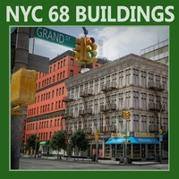 New York City Blocks (68 Buildings) - Various 3D Model