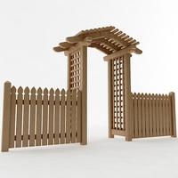 Arbor Trellis Style 4 3D Model