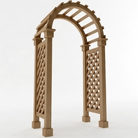 Arbor Trellis Style 3 3D Model