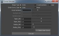 Free Curves Extruder for Maya 2.0.1 (maya script)