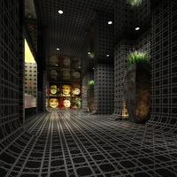 Washroom Spaces 001 3D Model