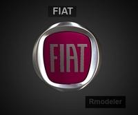 Fiat 3d Logo 3D Model