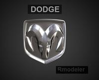 Dodge 3d Logo 3D Model