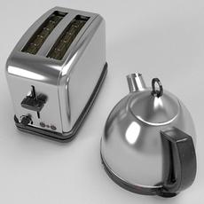 Kettle & Toaster set 3D Model