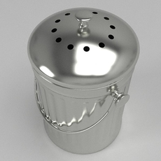 Small kitchen compost bin 3D Model