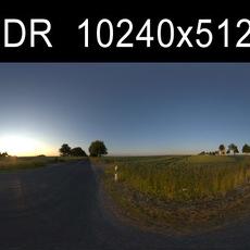 Road in field 2 HDRI Environment (High resolution)