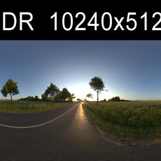 Road in field 1 HDRI Environment (High resolution)