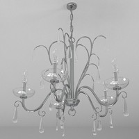 Contemporary chandelier 5 3D Model