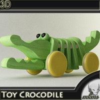 Toy Crocodile 3D Model