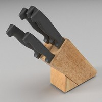 Knife block 3D Model