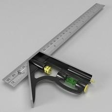 Combination Square 3D Model