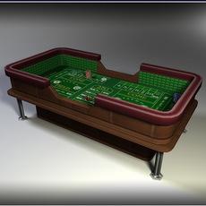 Craps Table - Low Poly 3D Model