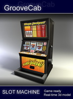 Slot Machine - Low Poly 1 3D Model