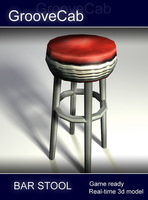 Bar Stool - low poly 3D Model