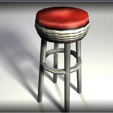Bar Stool - low poly 3D Model
