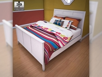 Ashley Caspian Panel Bed 3D Model