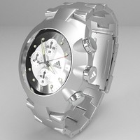 Chronograph watch 3D Model