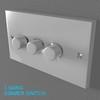 02 33 01 262 switch socket plastic   render 3 4