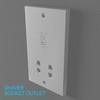02 33 04 547 switch socket plastic   render 12 4