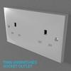 02 33 05 822 switch socket plastic   render 16 4