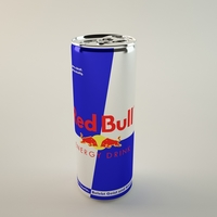 Red Bull Can 3D Model