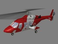 Bell 222 V6 3D Model