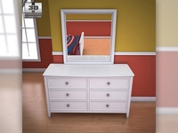 Ashley Caspian Panel Dresser 3D Model