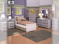 Ashley Sandhill Panel Bedroom Set 3D Model