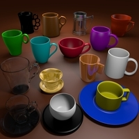 Cup Pack 3D Model