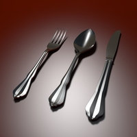 Tableware Spoon Fork Knife 3D Model