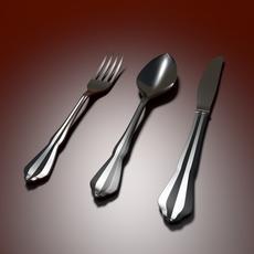 Tableware Spoon Fork Knife 3D Model