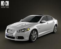 Jaguar XFR 2011 3D Model