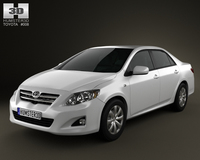 Toyota Corolla 2010 3D Model