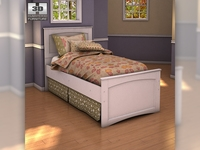 Ashley Sandhill Panel Bed 3D Model