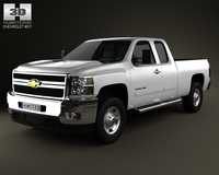 Chevrolet Silverado HD ExtendedCab StandardBed 2011 3D Model