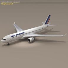 Airbus A330-200 Air France 3D Model