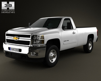 Chevrolet Silverado HD RegularCab LongBed 2011 3D Model