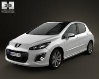 Peugeot 308 2012 3D Model