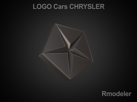 Chrysler 3d Logo 3D Model