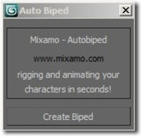 Auto Biped for Mixamo Auto Rigger 1.0.0 for 3dsmax (3dsmax plugin)