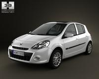 Renault Clio 5door 2010 3D Model