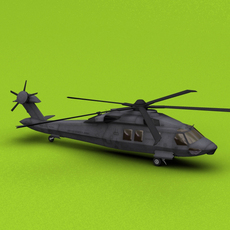 Stealth Helicopter Osama Raid 3D Model