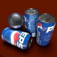 Pepsi Can 3D Model