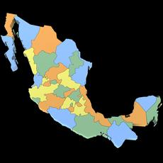 3d Mexico Map 3D Model