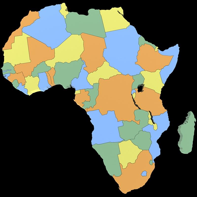 Map Of Africa 3d.Africa Map 3d Model