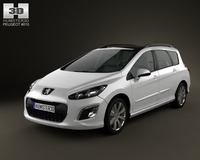 Peugeot 308 SW 2012 3D Model