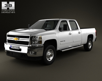 Chevrolet Silverado HD CrewCab StandardBed 2011 3D Model