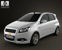 Chevrolet Aveo 5door 2009 3D Model