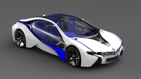 BMW Vision Concept Car Efficient Dynamics 3D Model