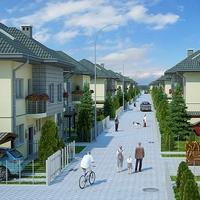 Housing Complex Full Scene 3D Model